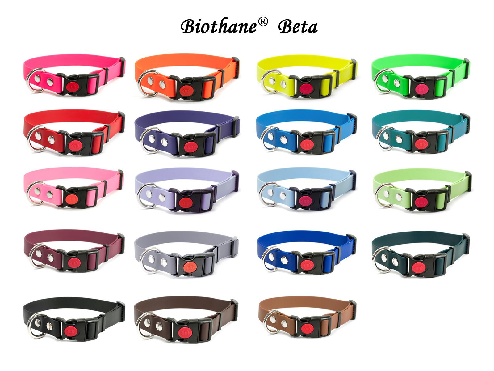 Biothane Halsband Safety Klick Farbübersicht
