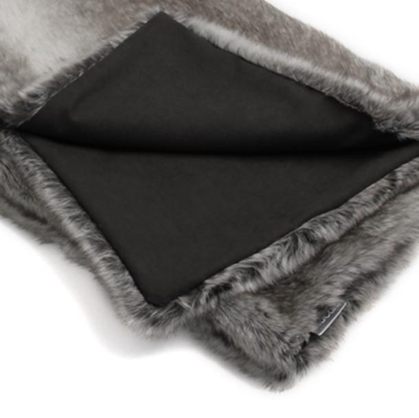 felpa decke grau-schwarz - haushund, Moderne deko