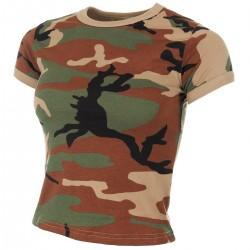 US T-Shirt, Damen - XL - woodland