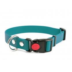 Biothane Safety Klick Halsband 25mm hellgrün 50-60cm