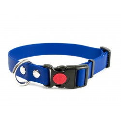 Biothane Safety Klick Halsband 25mm blau 30-40cm