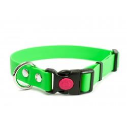 Biothane Safety Klick Halsband 16mm neon grün  30-40cm