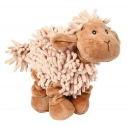 Schaf braun/beige wie Mop-Strähnen, elast. Beine