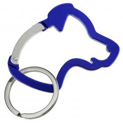 Karabiner Hundekopf - blau