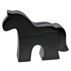 Spardose Pferd -  schwarz