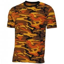 US T-Shirt, Streetstyle - L - orange-camo