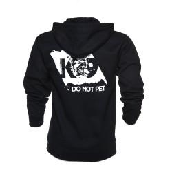 K9® - Pullover mit Zipp und Kapuze - DO NOT PET - XL - schwarz