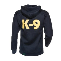 K9® - Pullover mit Zipp und Kapuze - L - schwarz