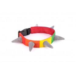 Spiked Rainbow Halsband - M