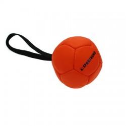 Sporthund Trainingsball 90mm - orange - schwimmend (Synthetikleder)