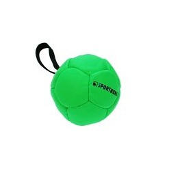 Sporthund Trainingsball 90mm - grün - schwimmend (Synthetikleder)