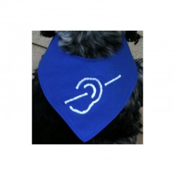 Gehörlosenhalstuch Baumwolle - 25cm
