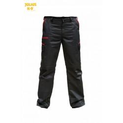 K9® - Zipp-Off Hundeführerhose - schwarz-rot - 42