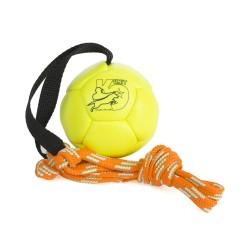 Trainingsball Leder - Neongelb - 80mm