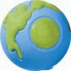 Planet Dog Orbee Earth Ball - L - blue, grün