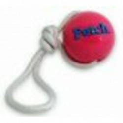 Planet Dog Fetch Ball with rope - pink