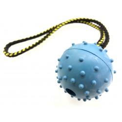 Vollgummiball mit HS 60mm - blau