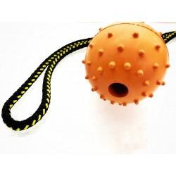 Vollgummiball mit HS 60mm - orange