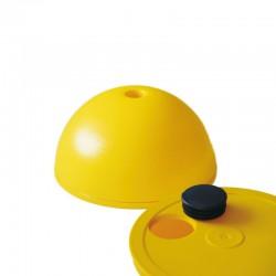 Hürdenfuß  gelb für Stange mit Durchmesser 25mm
