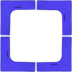 Floormarker Ecke 27x27x7.5cm - blau (4 Stk.)
