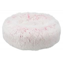 Hundebett Harvey rund 50cm weiß/pink