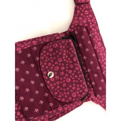Leckerlietasche Pfotenprint klein pink - die Geräumige HANN708