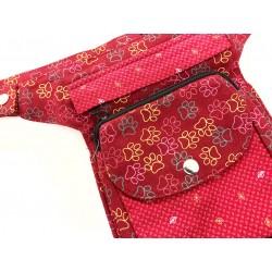 Leckerlietasche Pfotenprint groß rot - die Geräumige HANN729