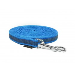 Gummierte Schleppleine 15mm blau 5m mit HS