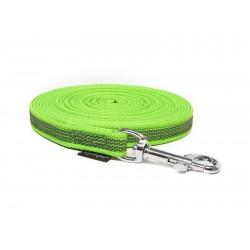 Gummierte Schleppleine 15mm neon grün 5m mit HS