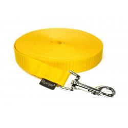 Nylon Schleppleine 20mm/10m - mit HS - gelb
