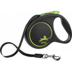 Flexi Black Design 5m - L bis 50kg - Tape - grün