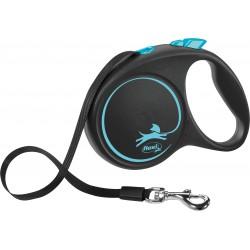 Flexi Black Design 5m - L bis 50kg - Tape - blau