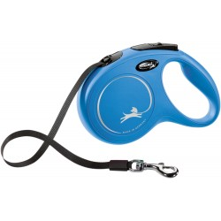 Flexi New Classic 5m - M bis 25kg - Tape - blau