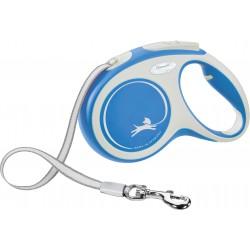 Flexi New Comfort 5m - M bis 25kg - Tape - blau