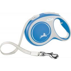 Flexi New Comfort 5m - L bis 60kg - Tape - blau