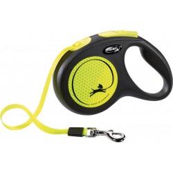 Flexi New Neon 5m - M bis 25kg - Tape - neongelb
