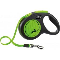 Flexi New Neon 5m - M bis 25kg - Tape - neongrün
