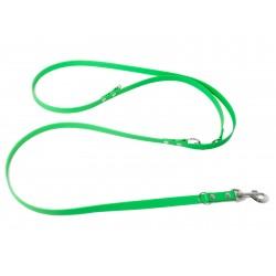 Biothane verstellbare Leine 19mm neon grün 200cm