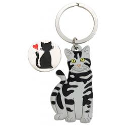 Schlüsselanhänger Katze mit Einkaufschip