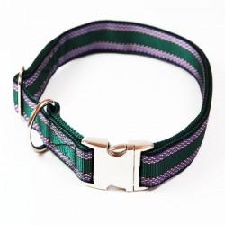 "Premium Hundehalsband ""Alu-Max®"" - Muster - 25mm/55-90cm - grün"