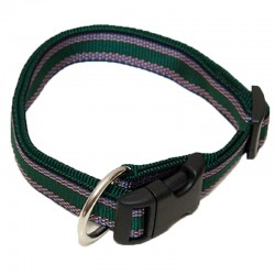 "Hundehalsband ""Wienerlock®"" - Muster - 20mm/30-50cm - grün"