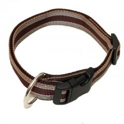 "Hundehalsband ""Wienerlock®"" - Muster - 25mm/55-90cm - braun"