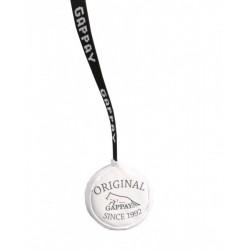 Lederball 6,5cm mit Gurtband