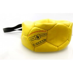 Klin Trainingsball Leder ungestopft 180mm - gelb