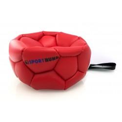 Klin Trainingsball Leder ungestopft 180mm - rot