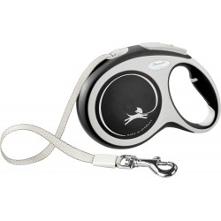 Flexi New Comfort 8m - L bis 50kg - Tape - schwarz