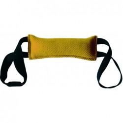 Beissrolle 20x16cm SOFT beige-gelb (für Anwendung mit rosa Magnet)