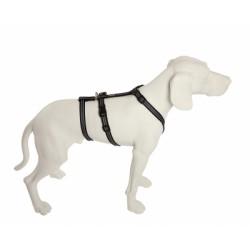 NoExit Hundegeschirr® - 25mm/70-90cm - SoftGrip - schwarz/silber