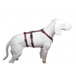 NoExit Hundegeschirr® - 20mm/50-65cm - Muster pflaume