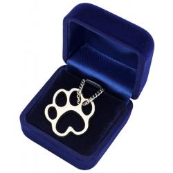 Halskette Hundepfote in Samtetui
